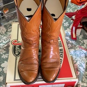 Justin leather boots vintage from 1980 9.5 D